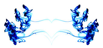Blue ink moving in water Royalty Free Stock Photo