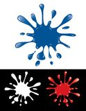 Blue ink splash Royalty Free Stock Images