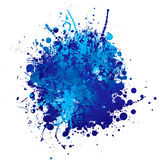 Blue ink splat. Shades of blue abstract ink splat with white background Royalty Free Stock Photo