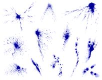 Blue ink stains Stock Photography