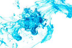 Blue ink in water Stock Image