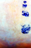 Blue ink in water Royalty Free Stock Photos