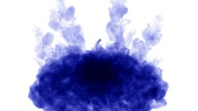 Blue ink on white background. 3d render, with luma matte. circular ink injection structure 7