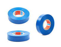 Blue insulating tape isolated Royalty Free Stock Photos