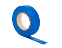 Blue insulating tape Royalty Free Stock Photography