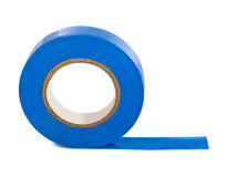 Blue insulating tape. Isolated on white background Stock Photos