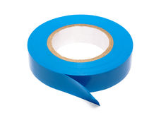 Blue insulating tape Royalty Free Stock Image