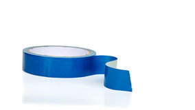 Blue insulating tape roll Stock Photos