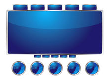 Blue interface Royalty Free Stock Image