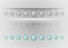 Blue Interface Stock Photos