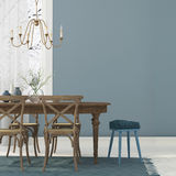 Blue interior  of dining room Stock Photo