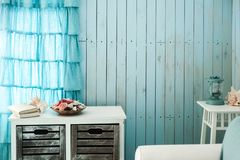 Free Blue Interior Of Beach House Stock Photography - 160864602