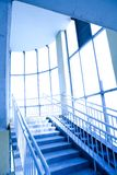 Blue interior of the transition Stock Image