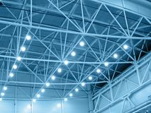 Free Blue Interior Warehouse Lighting Royalty Free Stock Photos - 14364908