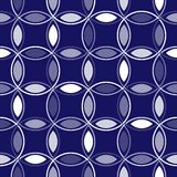 Blue Interlocking Circles Royalty Free Stock Image
