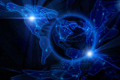 Blue internet background Stock Image