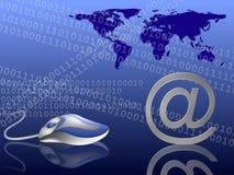 Blue internet background Royalty Free Stock Image