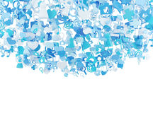 Blue internet icons Royalty Free Stock Image