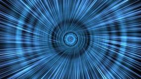 Blue Intestellar Space-Time Tunnel ... stock footage