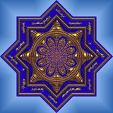 Blue intricate mandala Stock Images