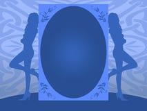 Blue invitation Stock Image