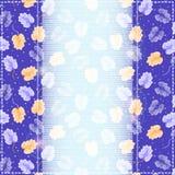 Blue Invitation Floral Card Stock Photo