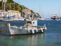 Kefalonia Island Port Village, Greece Royalty Free Stock Images
