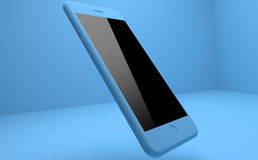 Blue IPhone. On Blue Background Royalty Free Stock Photography