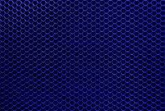 Blue iron hexagonal texture Stock Photo