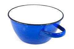 Blue iron pot Stock Photography