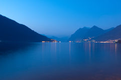 Blue iseo lake Royalty Free Stock Photo