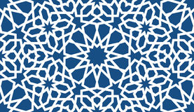 Blue islamic pattern . Seamless arabic geometric pattern, east ornament, indian ornament, persian motif, 3D. Endless Stock Photo