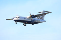 Blue Islands turboprop Stock Photo