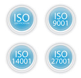 Blue iso buttons Royalty Free Stock Photos