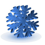 The blue isolated snowflake Stock Photos