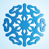 The blue isolated snowflake Royalty Free Stock Photos