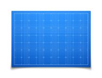 Blue isolated square grid with shadow Stock Images