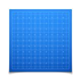 Blue isolated square grid with shadow Royalty Free Stock Image