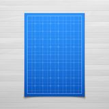 Blue isolated square grid with shadow isolated on Royalty Free Stock Image