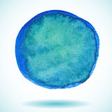 Blue  isolated watercolor paint circle Royalty Free Stock Image