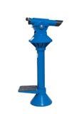 blue isolerat teleskop Fotografering för Bildbyråer