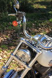 Blue Italian motorcycle Royalty Free Stock Image