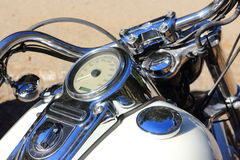 Blue Italian motorcycle Stock Images