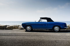 Blue italian vintage convertible Stock Photography