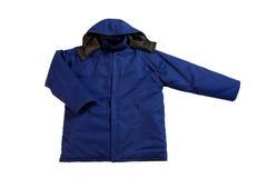 Blue jacket royalty free stock photo