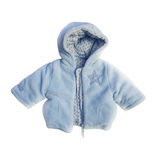 Blue jacket for baby boy Stock Image