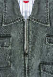 Blue jacket jeans with zipper Royalty Free Stock Images