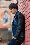 Blue, Jacket, Outerwear, Leather Jacket Royalty Free Stock Photo