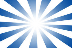 Blue japanese sun like manga cartoon Stock Images