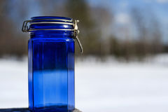 Blue Jar Royalty Free Stock Photography